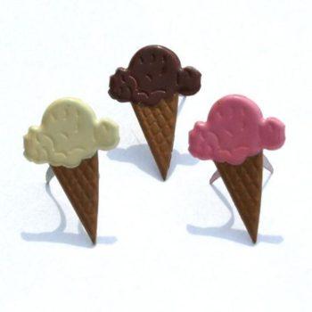 Набор фигурных брадс Мороженое - Eyelet Outlet 3шт.