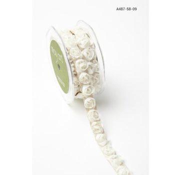 A487-58-09 Лента - розочки May Arts самоклеящаяся, бежевая, 1,5 см