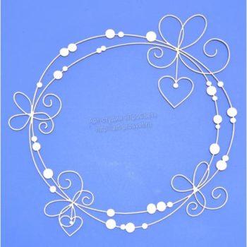 ART2312 Чипборд Рамка с сердечками - ПроСвет
