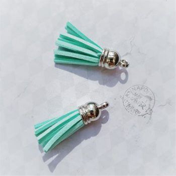 Кисточка декоративная Light blue, серебро, 38 мм