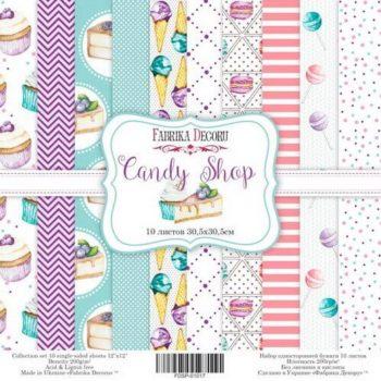 Набор скрапбумаги Candy Shop - Фабрика Декору, 30.5*30.5 см