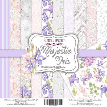 Набор скрапбумаги Majestic Iris - Фабрика Декору, 30,5x30,5см
