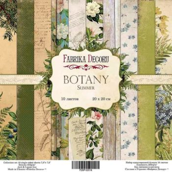 Набор скрапбумаги Botany summer - Фабрика Декору, 20х20см