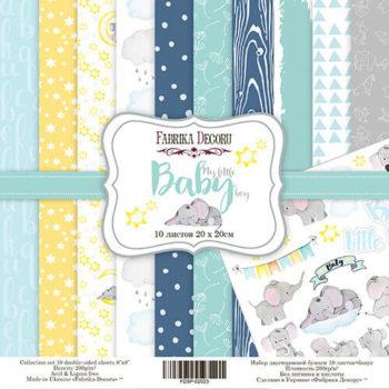 Набор скрапбумаги My little baby boy - Фабрика Декору, 20*20см