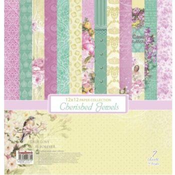 Набор бумаги Драгоценности (Cherished Jewels) - ScrapBerrys 7 листов 30,5*30,5 см