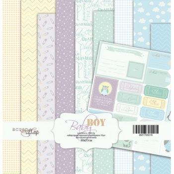SM1700016 Набор бумаги Baby Boy (Мальчик) - Scrapmir 20х20см