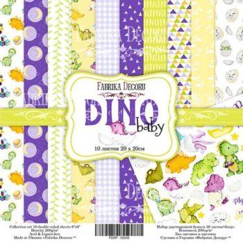 Набор скрапбумаги Dino baby - Фабрика Декору, 20х20 см