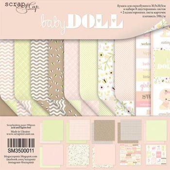 SM3500011 Набор бумаги Doll Baby - Scrapmir, 30х30см