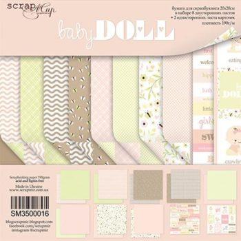 SM3500016 Набор бумаги Doll Baby - Scrapmir, 20х20см