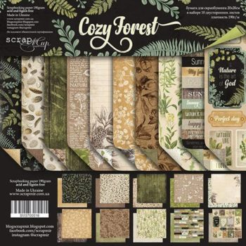 SM3700016 Набор бумаги Cozy Forest (Уютный лес) - Scrapmir, 20х20см