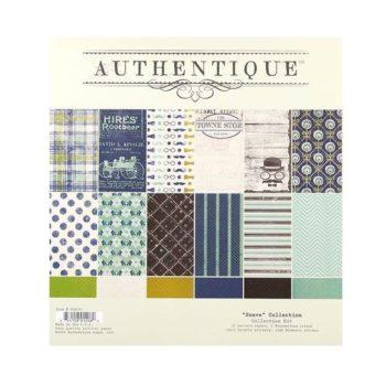 Набор двусторонней бумаги Suave - Authentique, 30*30см