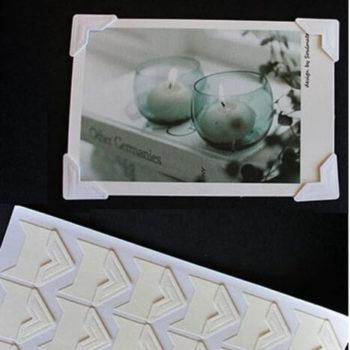 Уголки для фото самоклеящиеся бумажные Белые, 24 шт.