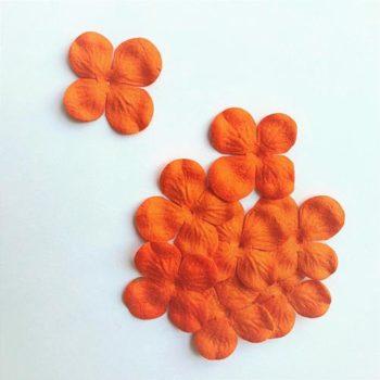Гортензии мини темно-оранжевые, 3 см, 10 шт.