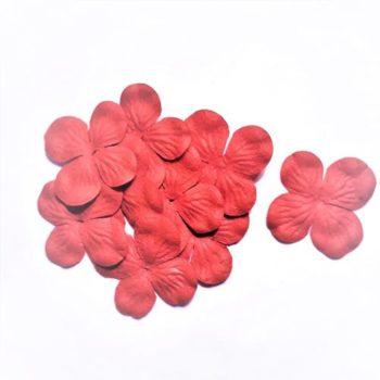 Гортензии мини красный 3 см, 10 шт.