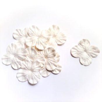 Гортензии мини белые волнистые 3 см, 10 шт.
