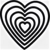 Форма для вырубки Сердечки - ScrapBerrys 5шт. + магнитный лист