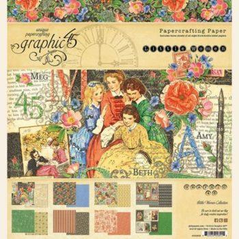 4501658 Набор бумаги Little Women - Graphic 45, 24 листа, 20*20см