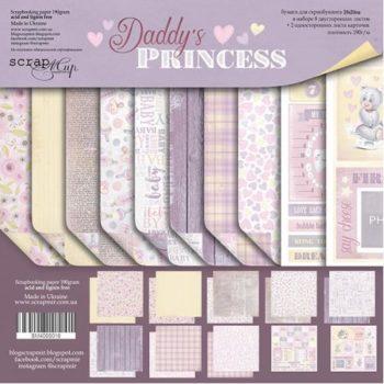 SM4000016 Набор бумаги Daddy's Princess (Папина принцесса) - Scrapmir, 20х20см