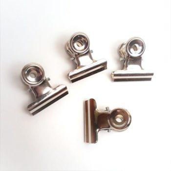 Зажимы металлические Серебро 22 мм, 4 шт.