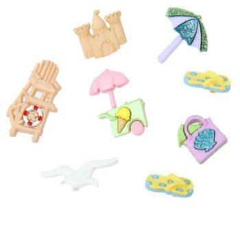 Набор декоративных пуговиц At the beach - Dress It Up