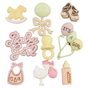Набор декоративных пуговиц Baby Girl - Buttons Galore