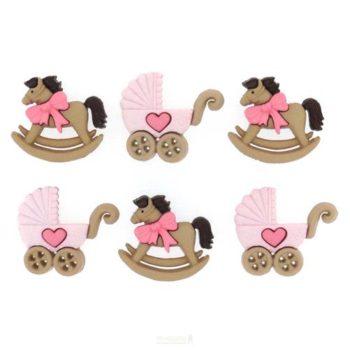 Набор декоративных пуговиц Horse Buggy - Girl - Dress It Up