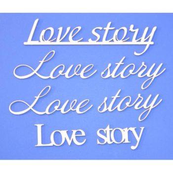 ART1215 Чипборд Надпись Love story - ПроСвет