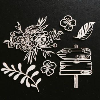 FD2024903 Чипборд Мой сад 2 - Fleur Design, 10х15 см