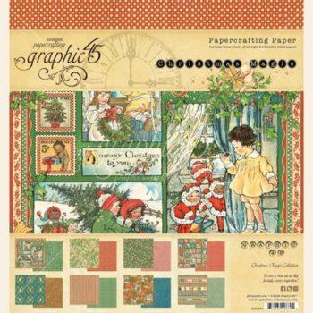 4501734 Набор бумаги Christmas Magic - Graphic 45, 20*20, 24 листа