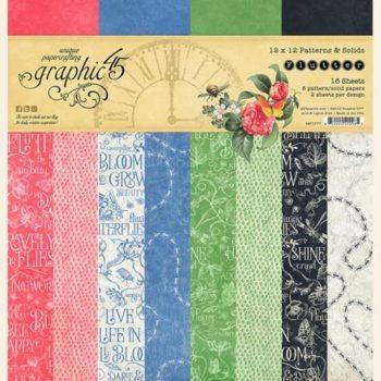 4501777 Набор бумаги Flutter - Patterns & Solid - Graphic 45, 30*30см