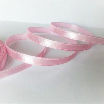Лента атласная светло-розовая, 6 мм