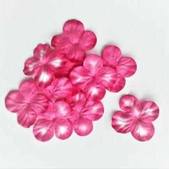 Гортензии мини темно-розовые с белым 3 см, 10 шт.