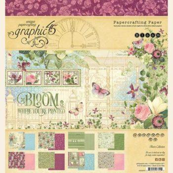 4501870 Набор бумаги Bloom - Graphic 45, 20*20 24 листа