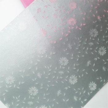Калька декоративная с серебристым напылением Floral А4