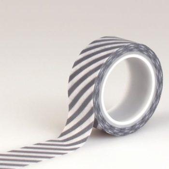 Бумажный скотч Echo Park - Hello Winter Navy Stripe - Washi Tape