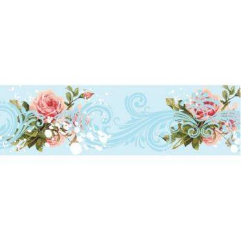 Бумажный скотч Небесно-цветочные узоры 15мм, 8 метров Scrapberrys