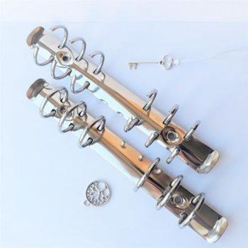 Механизм кольцевой c триггером серебро, длина 175 мм, кольцо - 20 мм