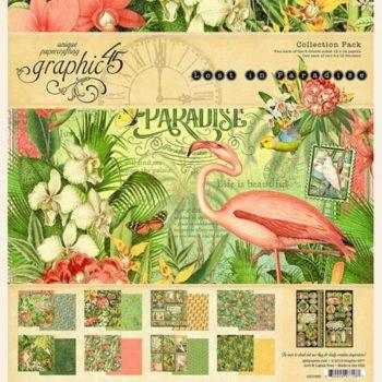 4501893 Полный набор бумаги Lost in Paradise - Graphic 45, 30*30см
