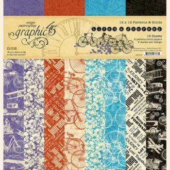 4501947 Набор бумаги Lifes a Journey - Patterns & Solid - Graphic 45 30*30см