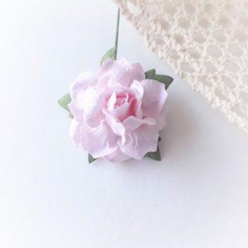 Бумажная роза Нежно-розовая 30 мм 1шт.