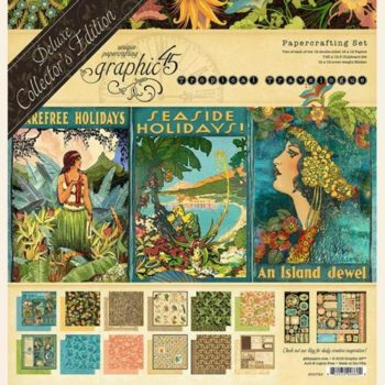 4501723 Набор бумаги Tropical Travelogue - Graphic 45 - Deluxe Collector's Edition