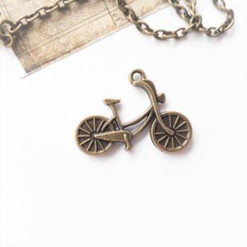 Металлическое украшение Велосипед бронза 20*25 мм