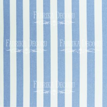 Отрез ткани Бело-голубые полосы — Фабрика Декору 35*75 см
