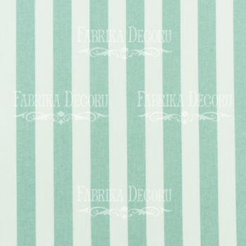 Отрез ткани Бело-мятные полосы — Фабрика Декору 35*75 см