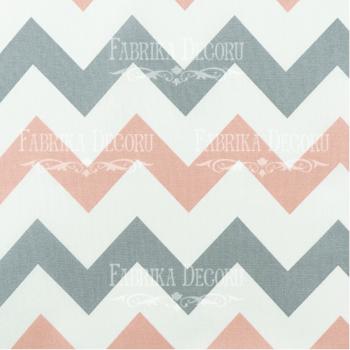 Отрез ткани Серо-розовый зигзаг — Фабрика Декору 35*70 см