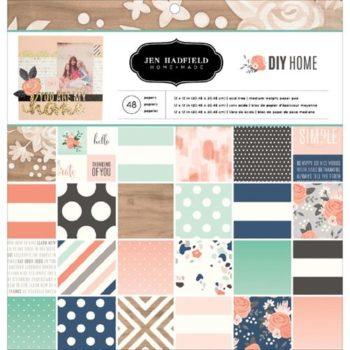 Набор бумаги DIY Home - Pebbles - Jen Hadfield 30,5*30,5см 48 листов