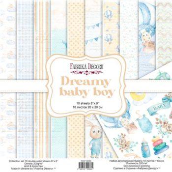 Набор скрапбумаги Dreamy baby boy — Фабрика Декору, 20×20см