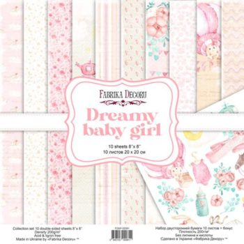 Набор скрапбумаги Dreamy baby girl — Фабрика Декору, 20×20см