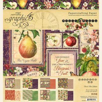4501999 Набор бумаги Fruit & Flora — Graphic 45 20*20, 24 листа