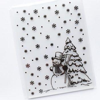 Форма для тиснения Снеговик — CraftBox, 14,5*10,5 см